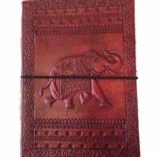 Håndlavet læder notesbog