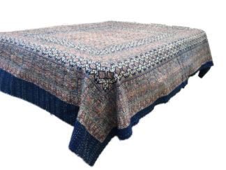 Quiltede bomulds sengetæpper
