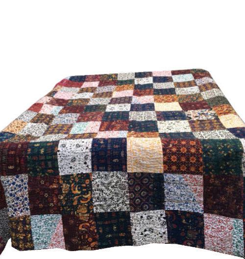 Bomulds sengetæppe Patchwork