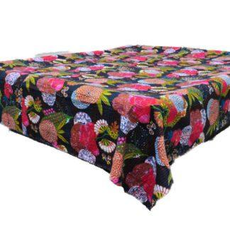 Indisk quiltet bomulds sengetæppe