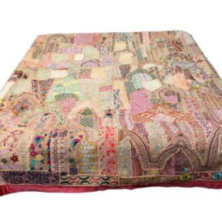 Lyserød Patchwork sengetæppe
