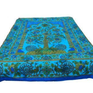 Bomulds batik vægtæppe med livets træ