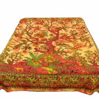 Livtestræ sengetæppe i bomuld