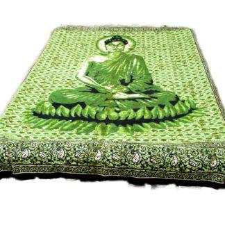 Buddha batik vægtæppe i bomuld