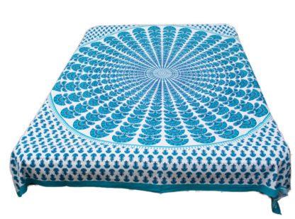 Mandala duge-vægtæppe i bomuld