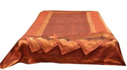 Sengetaeppe silke