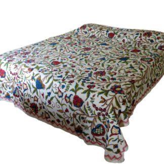 Håndbroderede sengetæpper fra Kashmir