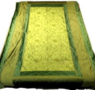 grøn enkelt sengetæppe