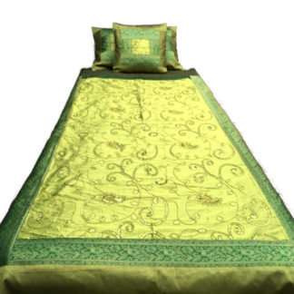 Grønne sengetæppe