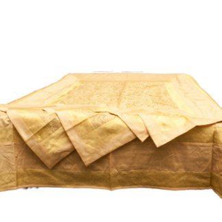 Silke sengetæppe med 4 pudebetræk