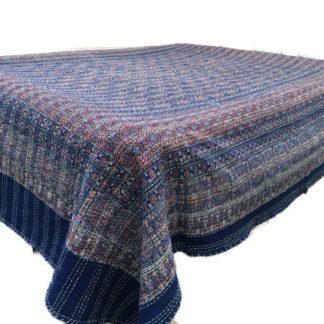 Quiltet bomulds sengetæppe