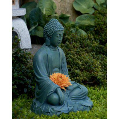 Grøn have buddha