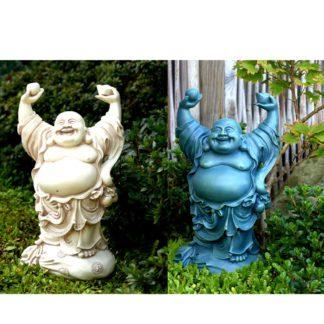 Happy Buddha standing til haven