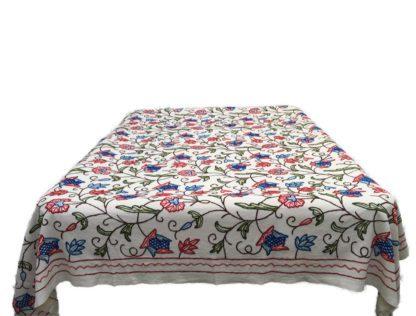 Håndbroderet sengetæppe fra Kashmir