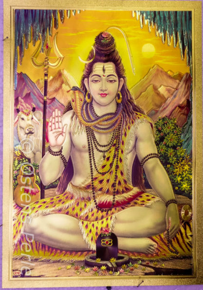 Shiva guld plastik