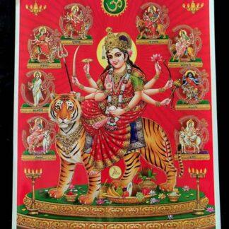 Durga plakater med glimmer