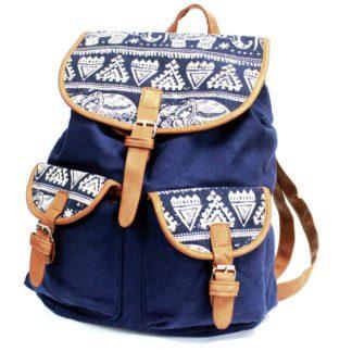 Blå rygsæk med 2 lommer