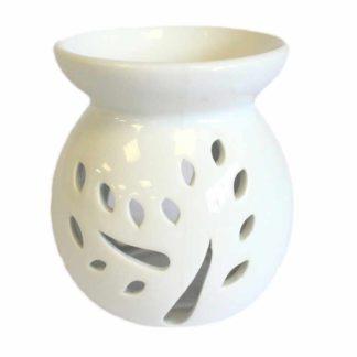Klassisk keramisk olie lampe i hvid