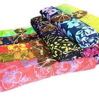 Bali blok print sarong - orkideer