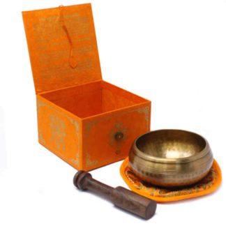 Fem Buddha syngeskål