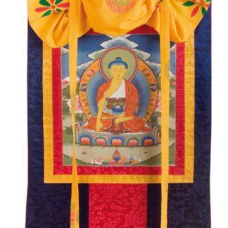 Thanka Mediterende Buddha