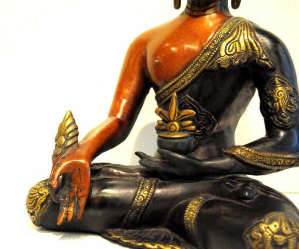 Medicin Buddha i messing