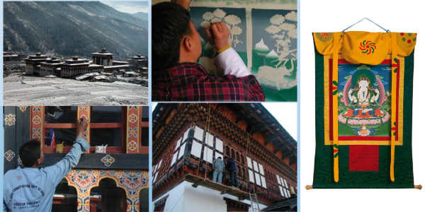 Thankha fra Bhutan