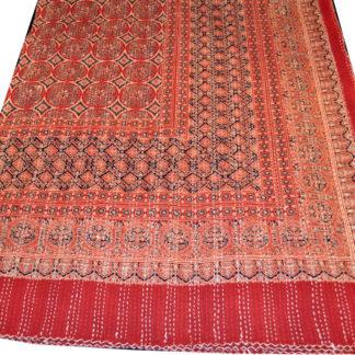 Quiltet bomulds sengetæppe rød