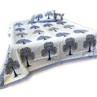 Blokprint sengetæppe