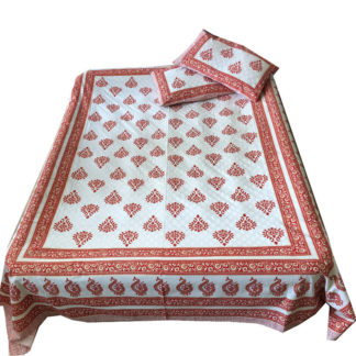 Blok printede sengetæpper