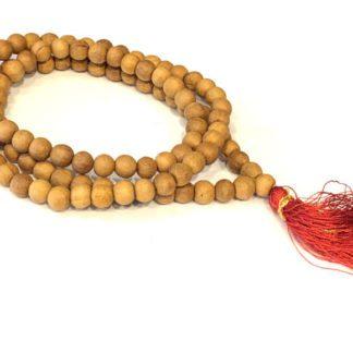 Mala i lyst træ perler 108