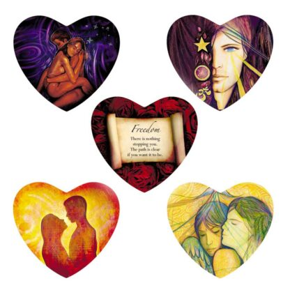 Lovers Oracle Heart-Shaped Fortune Telling Cards