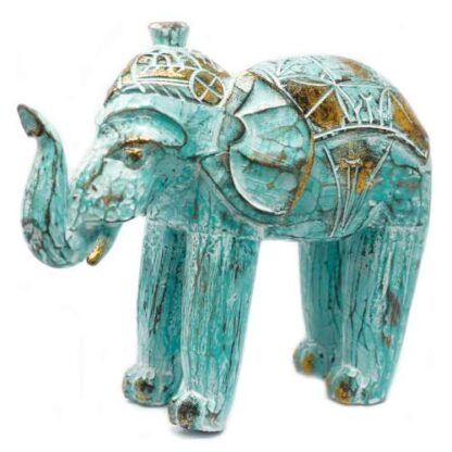 Smukke håndskårede elefanter