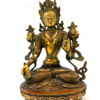 Tibetansk grøn Tara messing