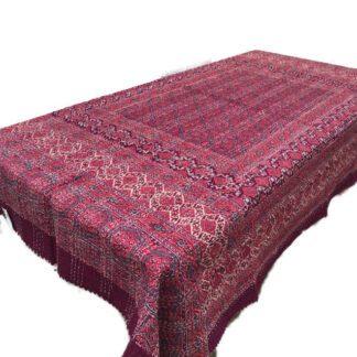 Quiltet sengetæppe til enkeltseng rød