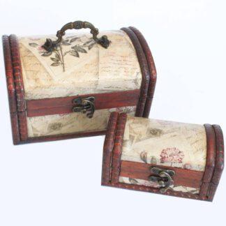 Vintage smykkeskrin sæt af 2 kister