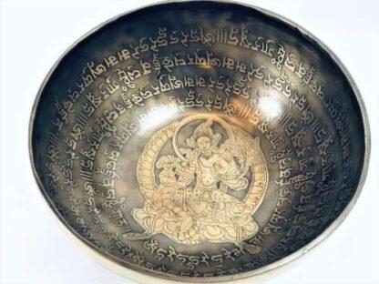 Tibetansk syngeskål af 10 metaller Green Tara