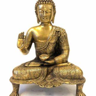 Amoghasiddhi Buddha på løvefødder