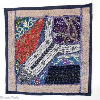 Håndlavede patchwork sofapudebetræk/pyntepuder Patchworkpudebetræk