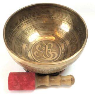 Tibetansk syngeskål af 10 metaller Ganesh
