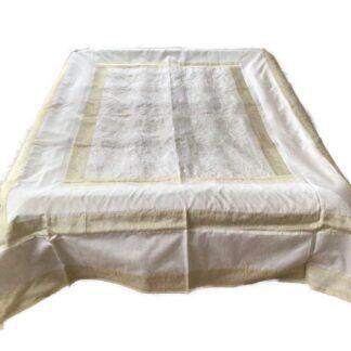 Sengetæppe i art silke