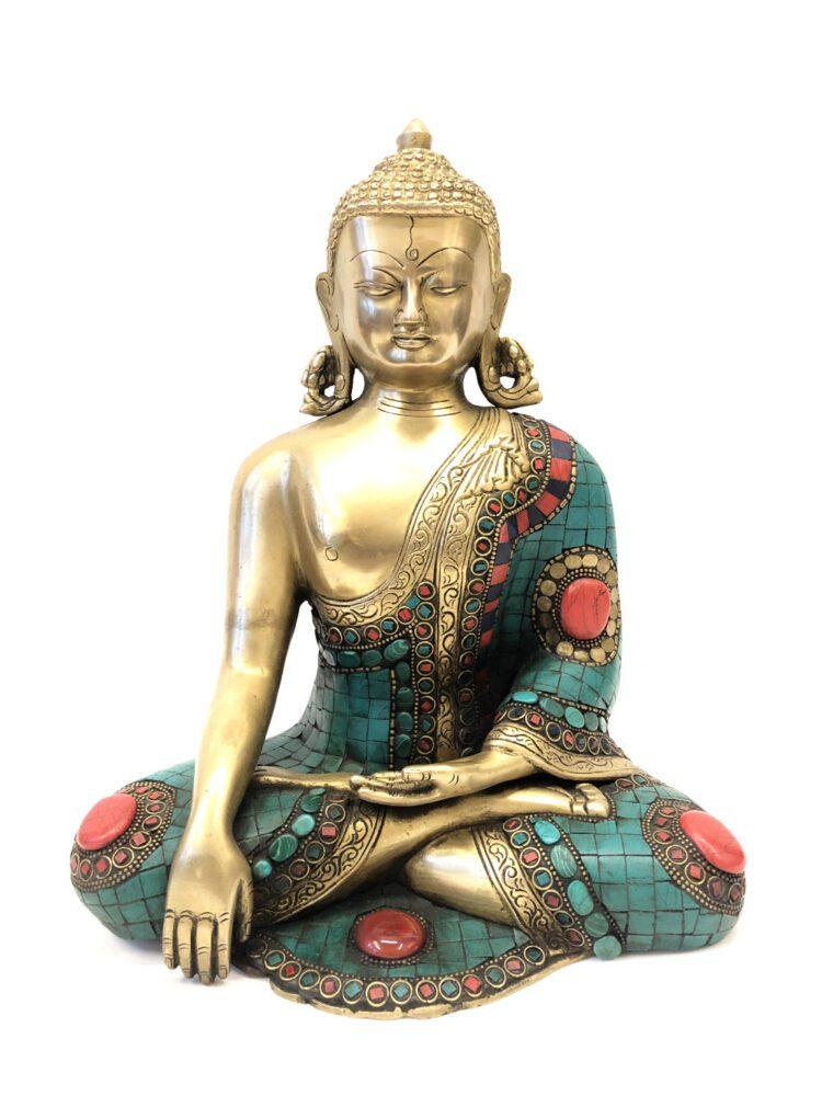 Tibetansk Buddha Shakyamuni med sten