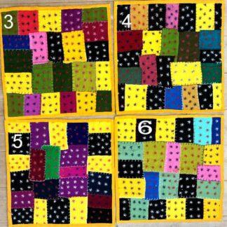 Quiltede patchwork pudebetræk