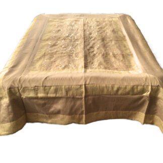 Guld sengetæppe i art silke