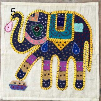 Pudebetræk med elefanter
