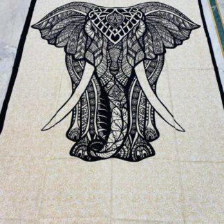 Smukt elefant vægtæppe