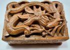 Træ skrin lavet af valnøddetræ fra Kashmir